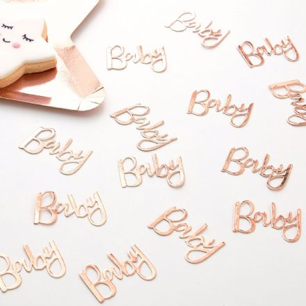 "Rose Gold ""Baby"" Table Confetti"